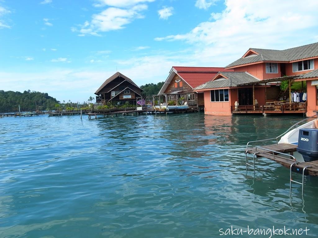 チャーン島西側ルート散策!水上マーケットな雰囲気のバンバオピアと幽霊船リゾート