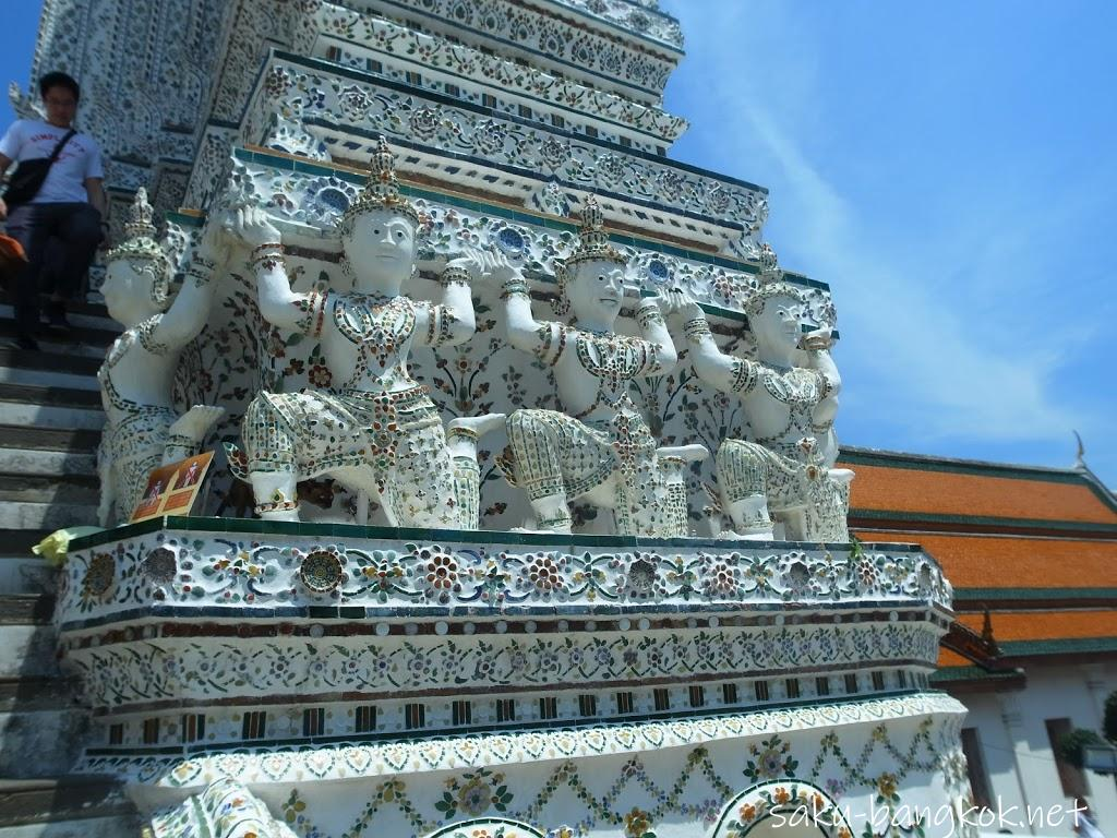 ワット・アルンの大仏塔の装飾