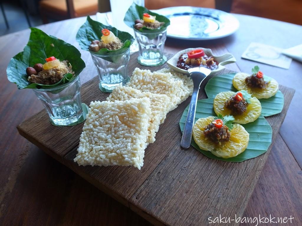 スパンニガーイーティングルームの料理(前菜セット)
