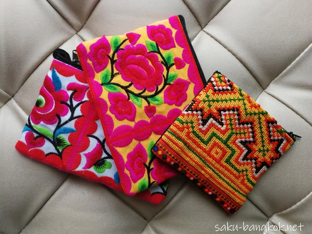 チェンマイのモン族市場で刺繍小物やチロリアンテープを激安で購入