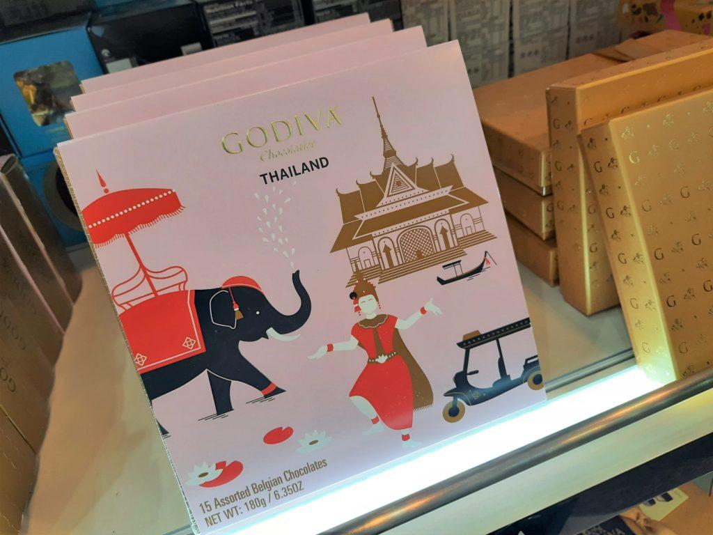 バンコク・ドンムアン空港のお土産 タイ限定GODIVAのチョコレート