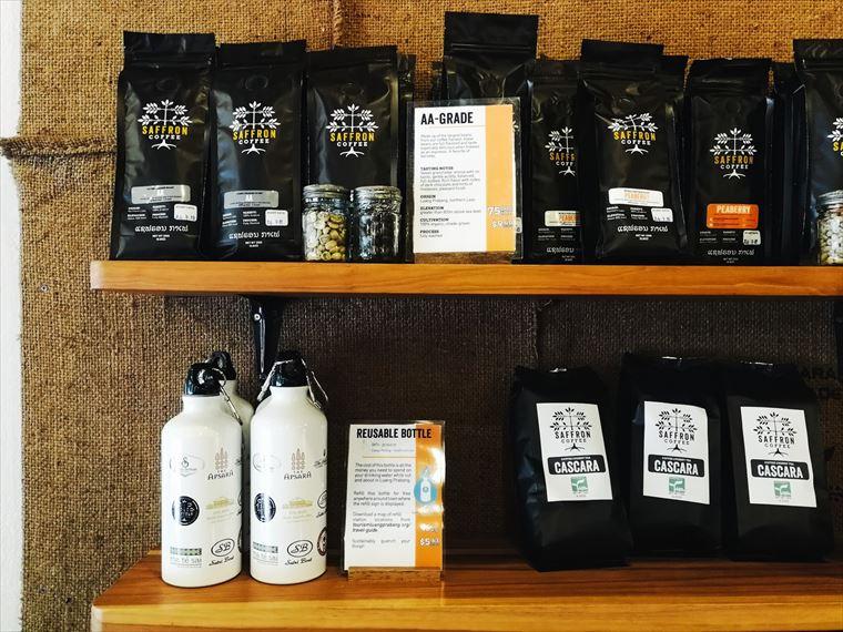 ルアンパバーンの【SAFFRON COFFEE】のコーヒー豆