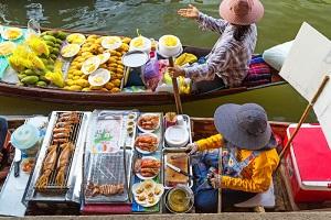 タイの水上マーケット