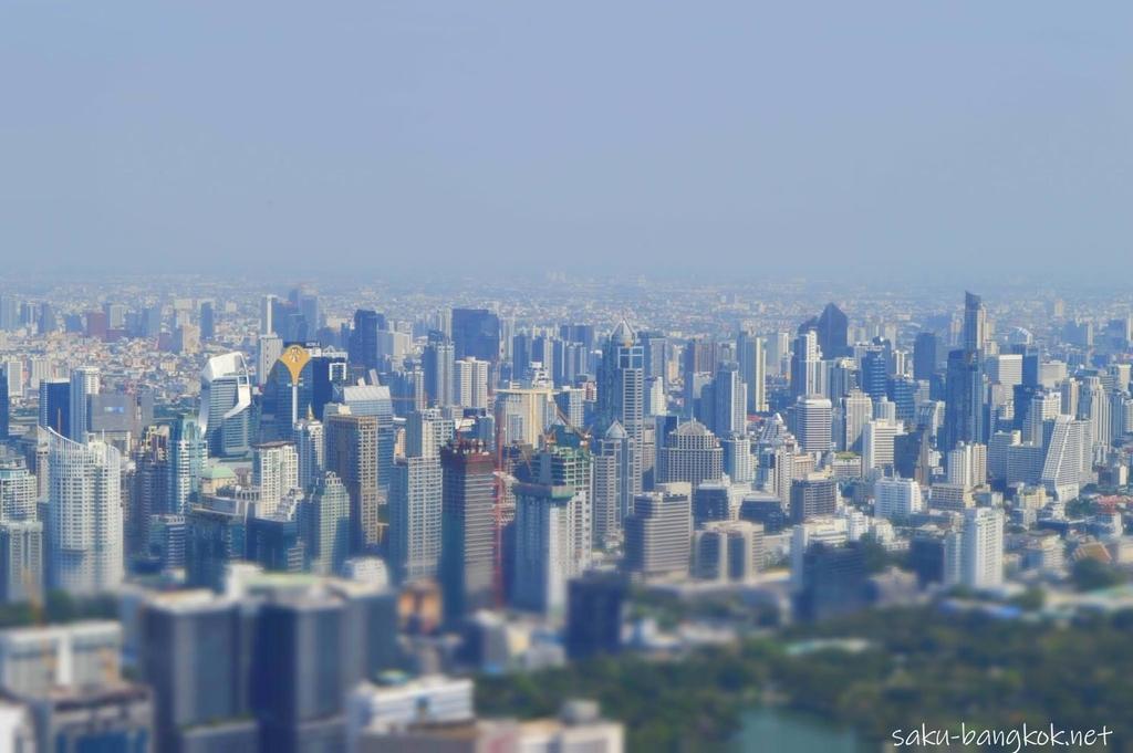 マハナコン展望台からの景色(ミニチュアモード)