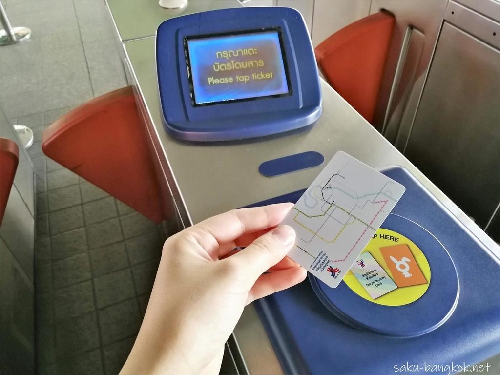 Single Journey ticket(普通のきっぷ)の場合