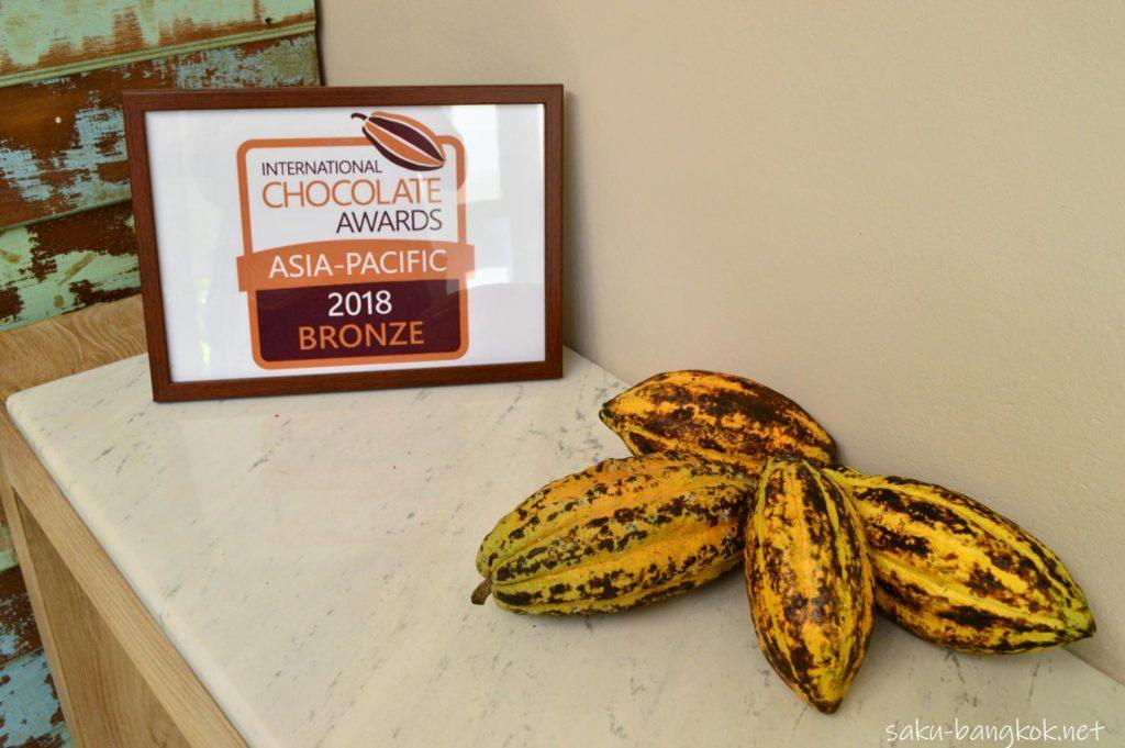 タイ産チョコレートカフェ KADKOKOAのチョコレートショップ ICA銅賞受賞