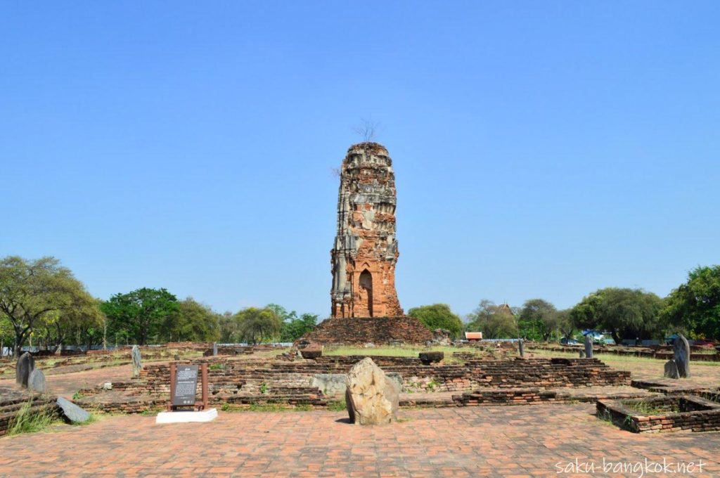 ワット・ロカヤスタ 涅槃仏の裏側の本堂跡地