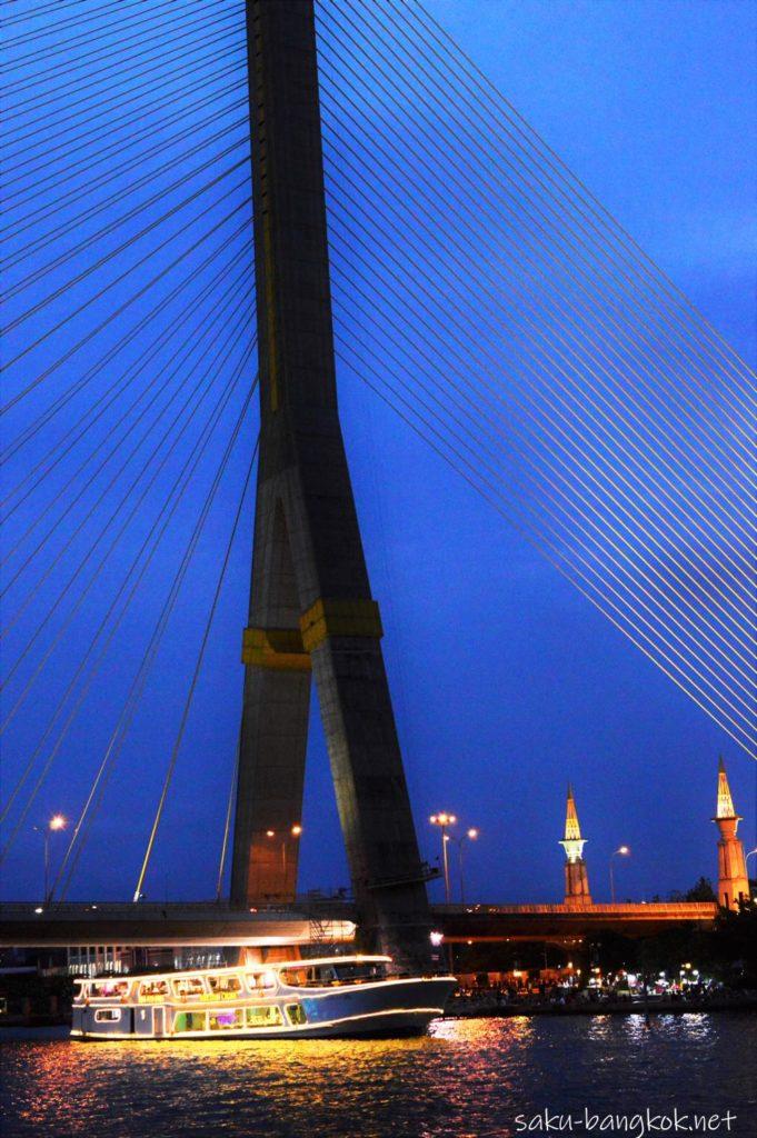 スパンニガークルーズから見るラマ8世橋
