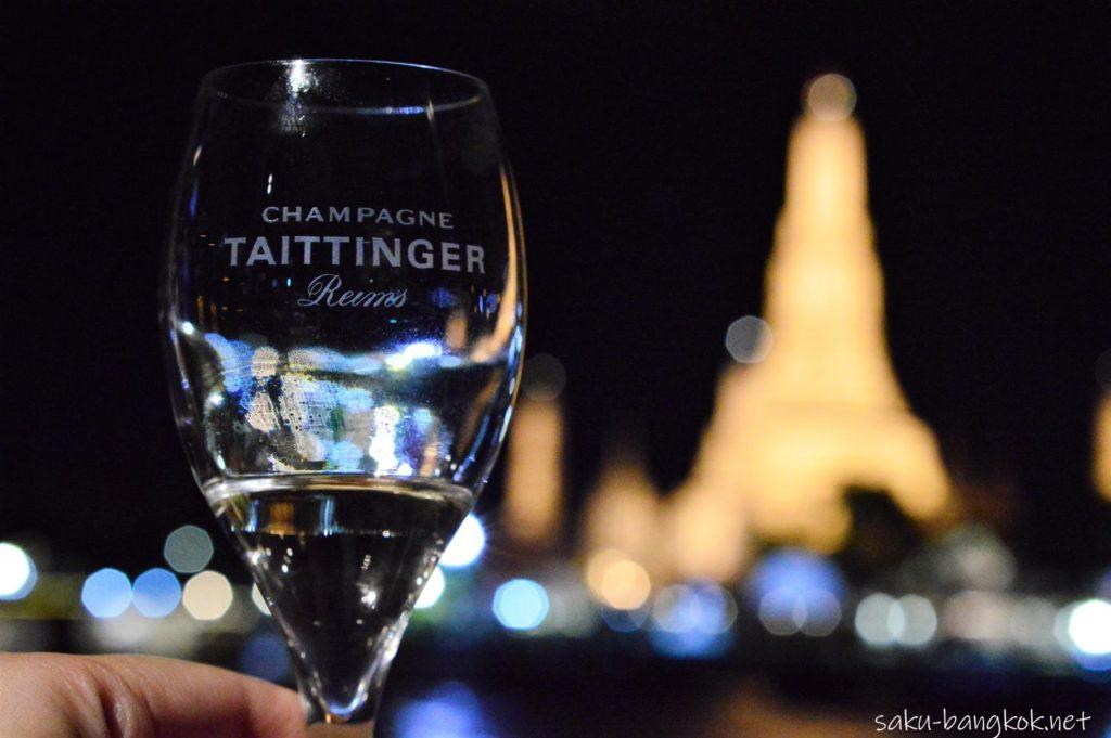 スパンニガークルーズ グラス越しのワット・アルン
