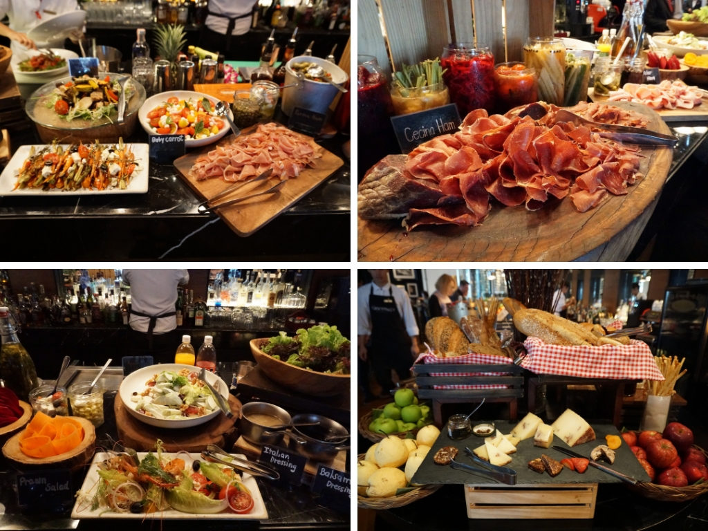 The District SUNDAY BRUNCHのサラダ・ハム・チーズ