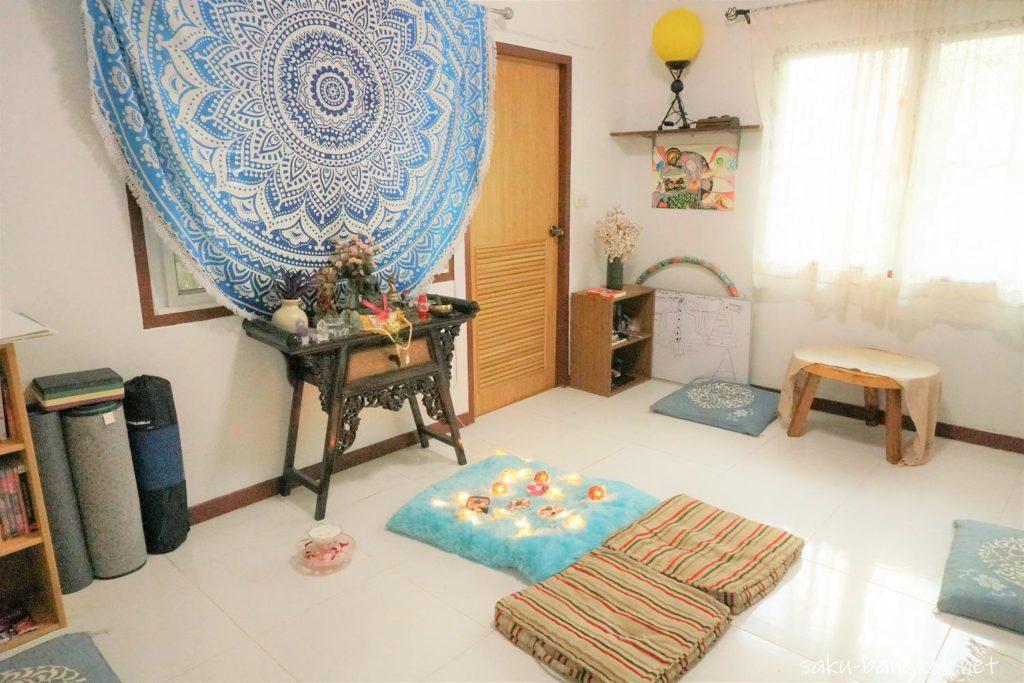 チェンマイのハーブサウナ Heart N soul 瞑想室