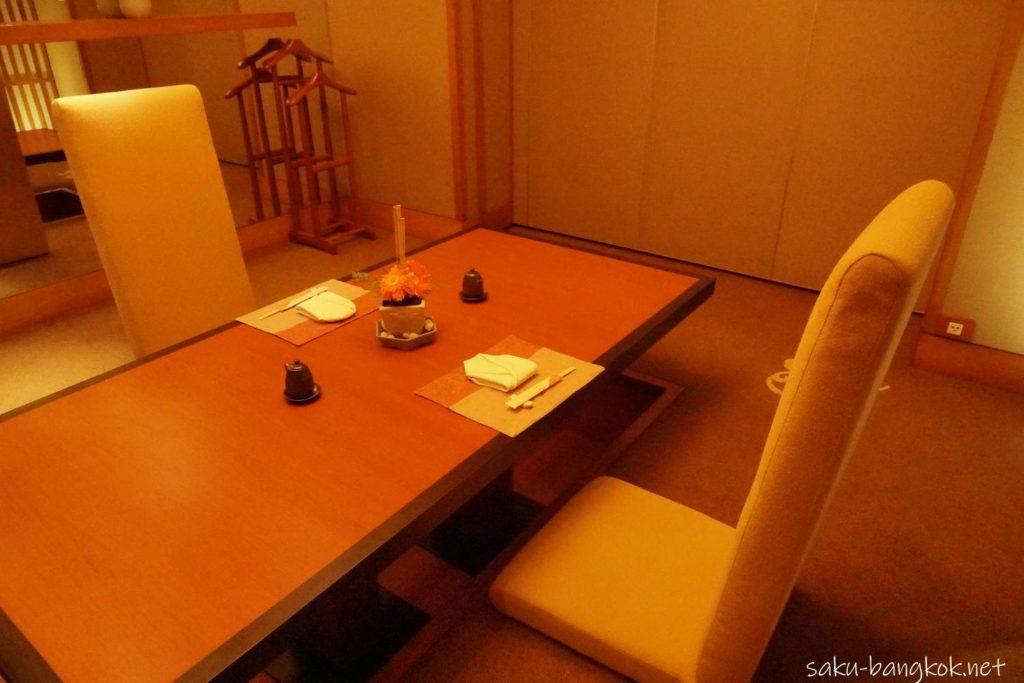 コンラッド・バンコクKisaraの個室