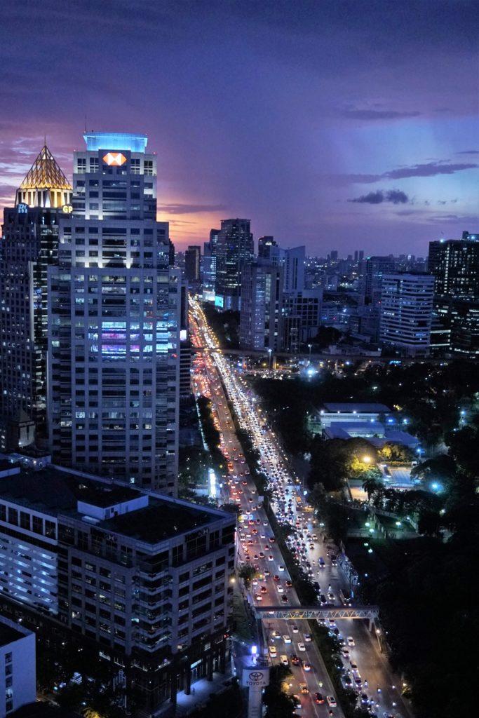 ソーソフィテル バンコク【HI-SO ルーフトップバー】30階からの眺め