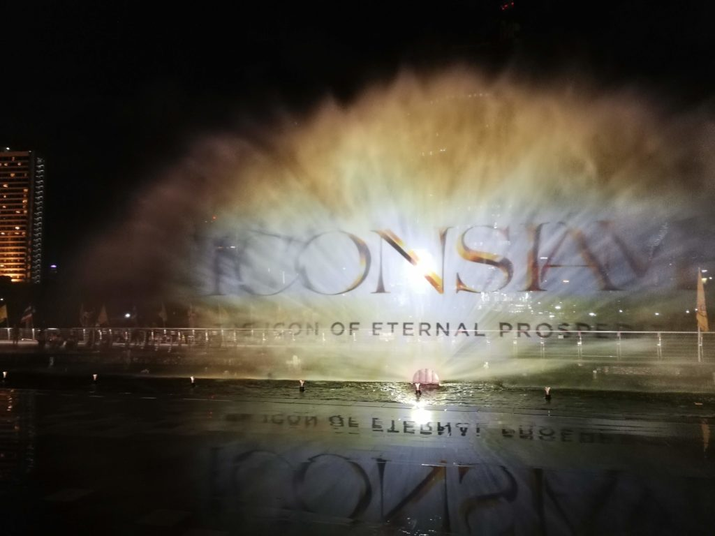 ICON SIAMの噴水ショー