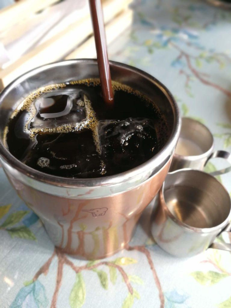 バンコクの洋食店 マ・メゾン(MA MAISON)のランチセットのアイスコーヒー