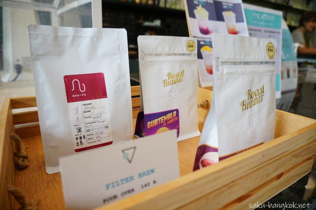 バンコク・トンブリー地区のカフェVacation のコーヒー豆