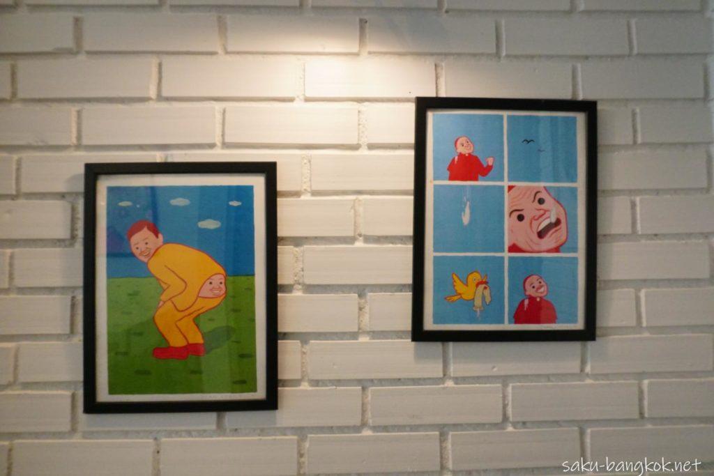 バンコク・トンブリー地区のカフェVacation のアート