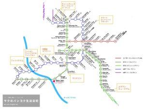バンコク路線図2019年8月