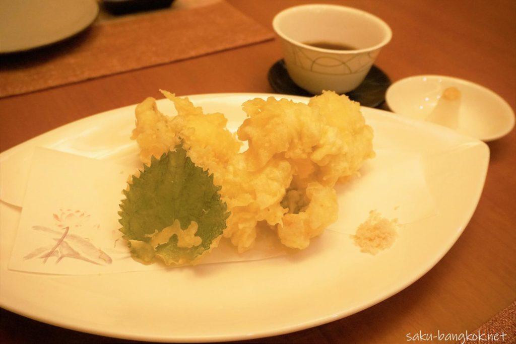 天ぷら THB 1,050++(約4,330円)