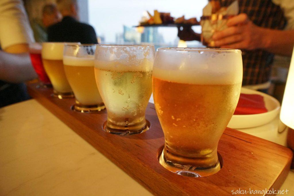 BEER FLIGHT THB 540++ 5 crafted beers in welcome size (Duvel, Vedett Blonde, La Chouffe, Hoegaarden Witte, De Koninck)