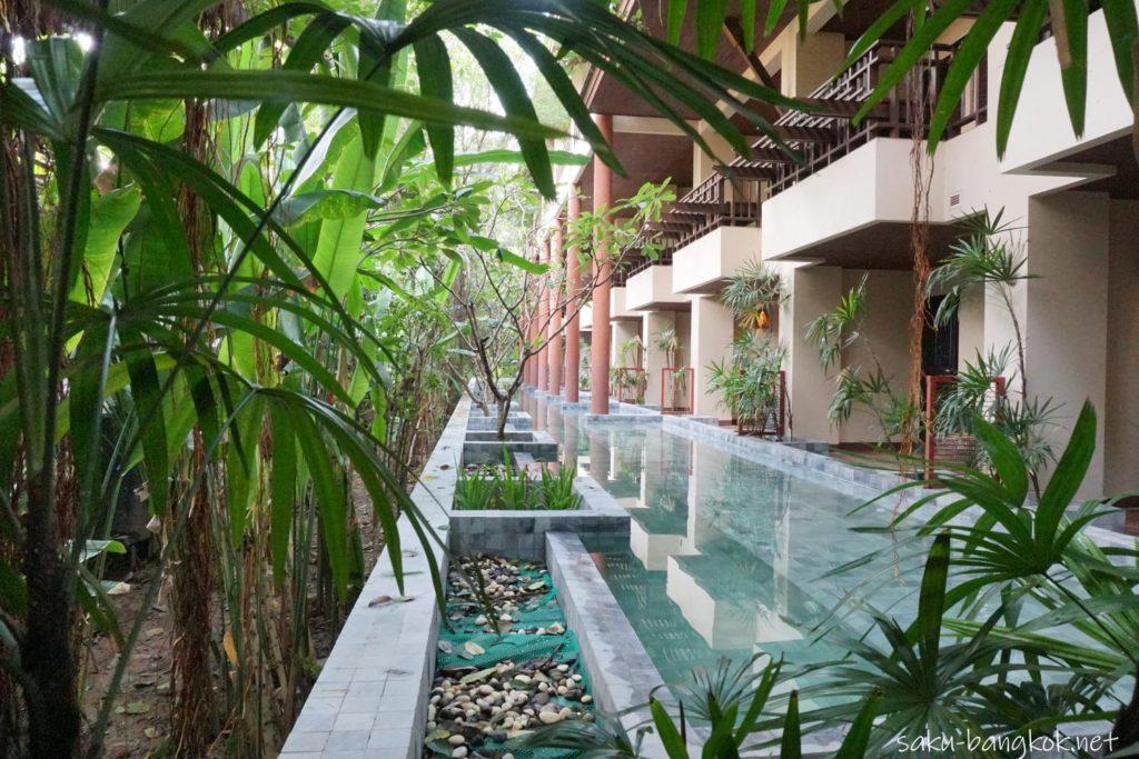 チェンマイホテル シリパンナ ヴィラ リゾート & スパ プールアクセスの宿泊棟