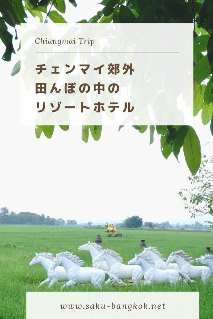チェンマイ郊外の田んぼの真ん中でリラックス♪【プーサンファー リゾート】