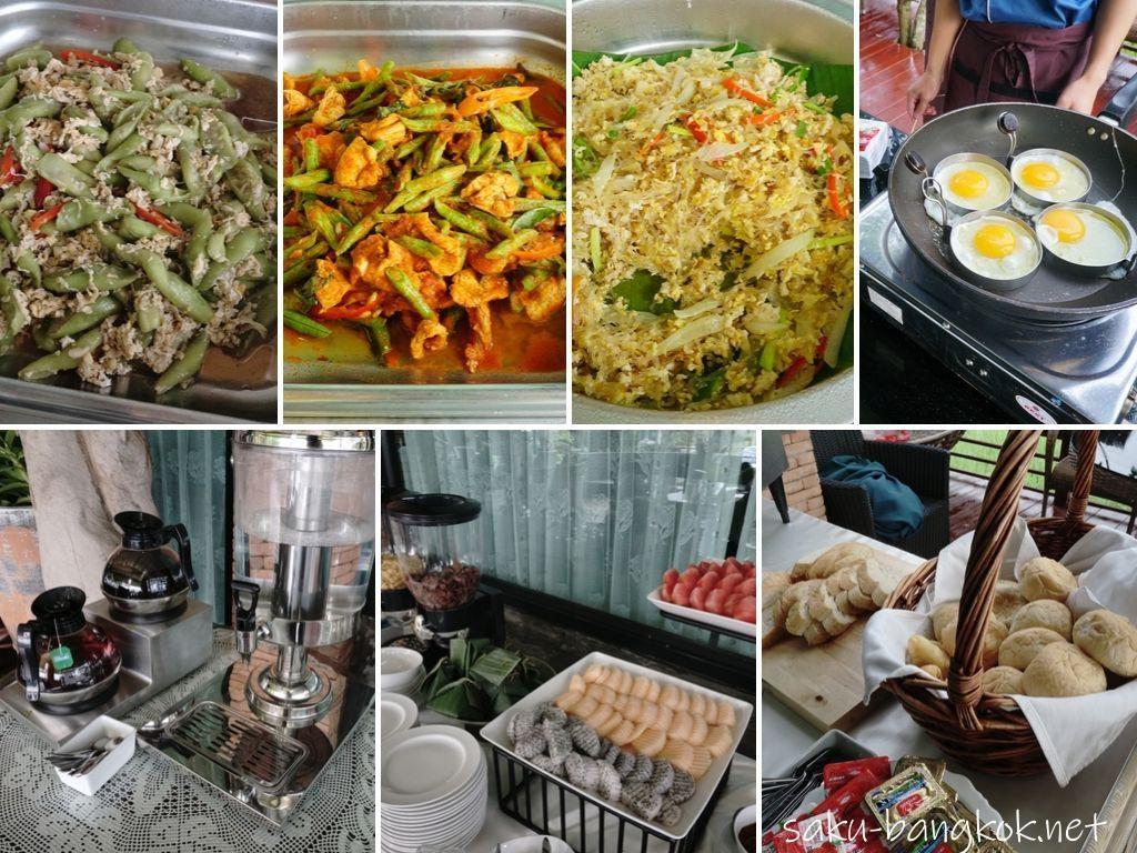 チェンマイ郊外の田んぼの真ん中でリラックス♪【プーサンファー リゾート】の朝食ブッフェ