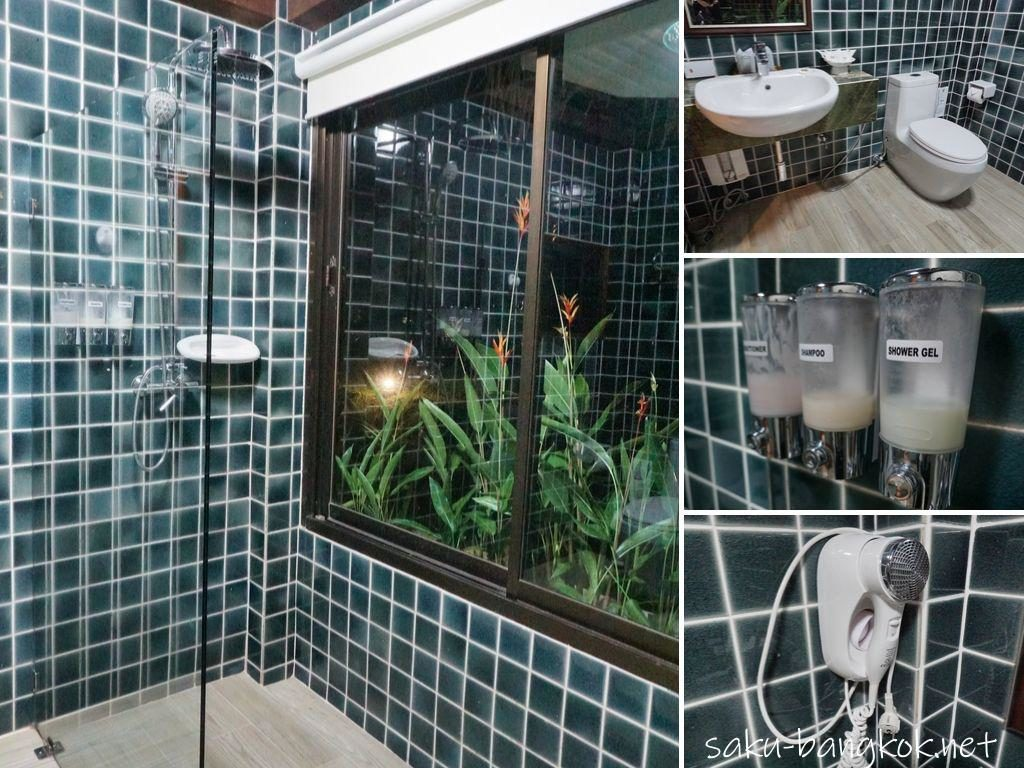 チェンマイ郊外の田んぼの真ん中でリラックス♪【プーサンファー リゾート】のシャワールーム