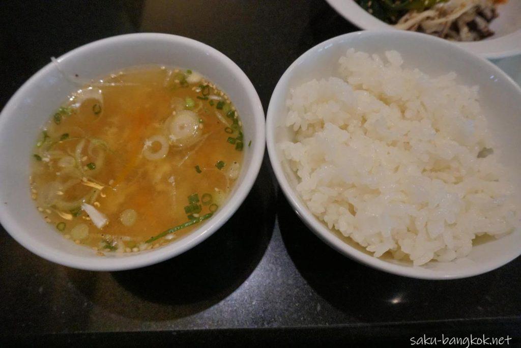 銀座堂ソイ26店 ごはんとスープ
