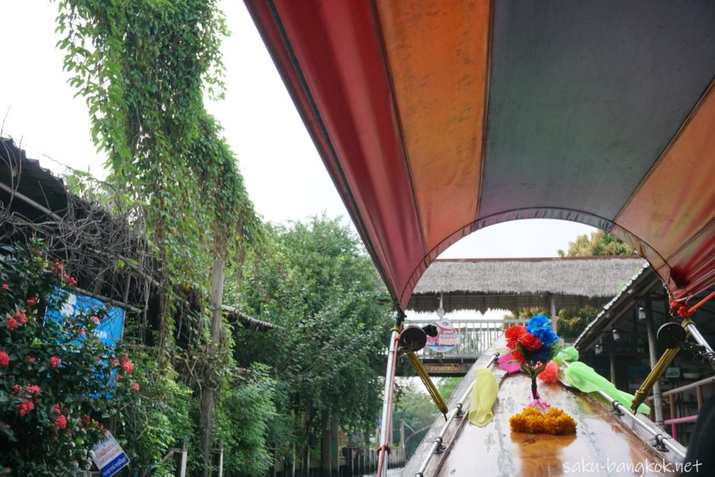 バンコクにあるクローンラットマヨム水上マーケット ボートトリップ
