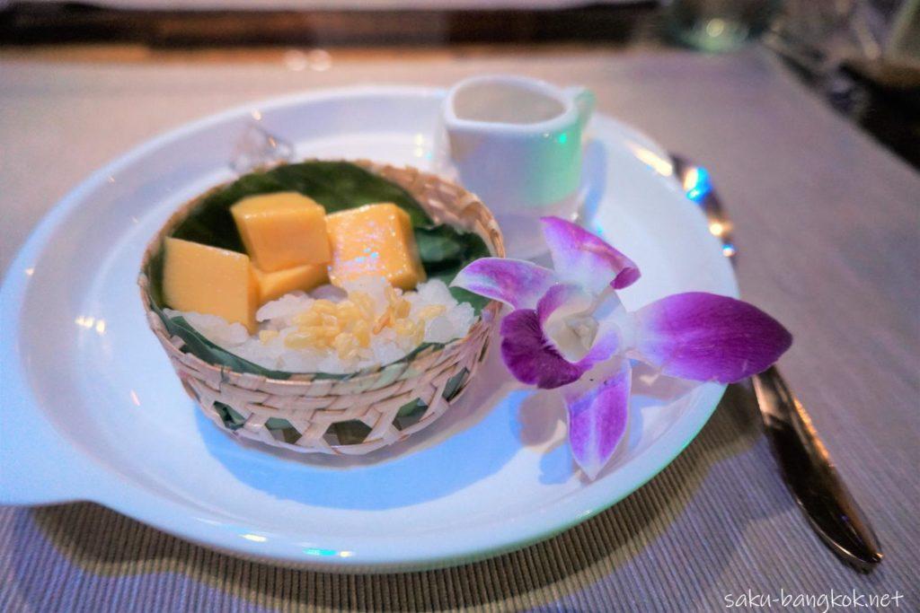 バンコク・タイバスフードツアーのデザート カオニャオマムアン