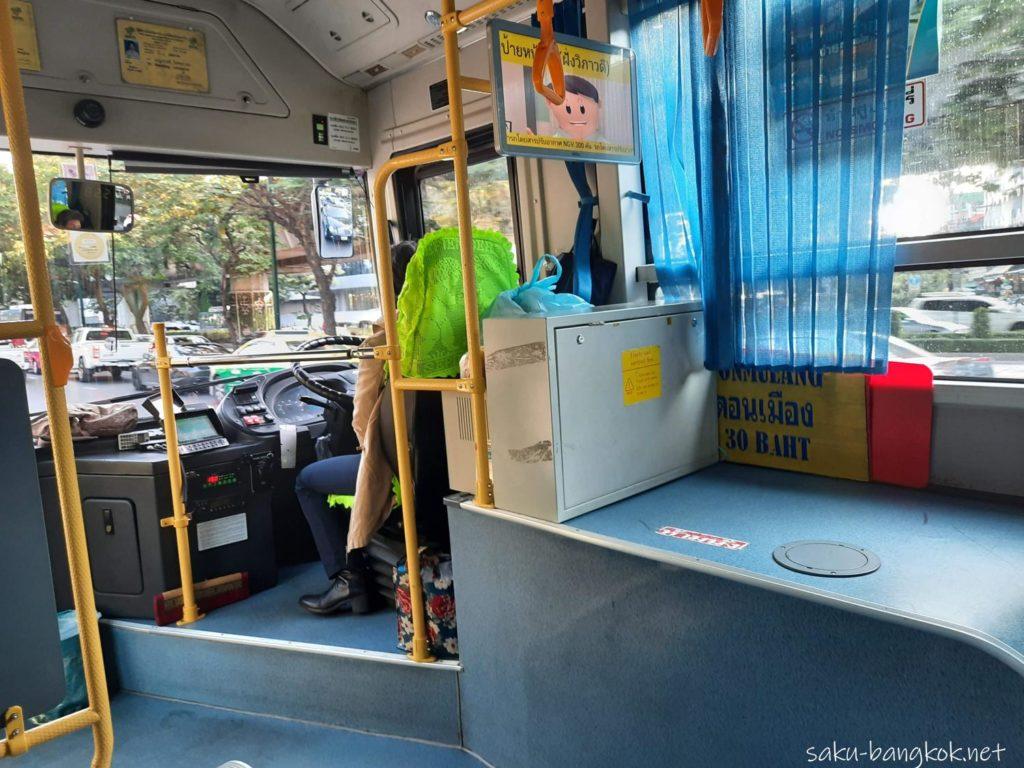 ドンムアン空港⇔バンコク市内の空港バス[A1,A2,A3,A4] A1バスの内部の様子