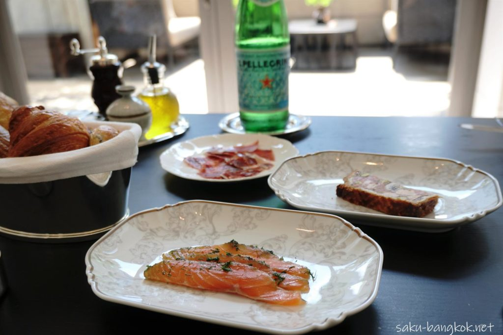 ローズウッドバンコクのサンデーブランチ(前菜)