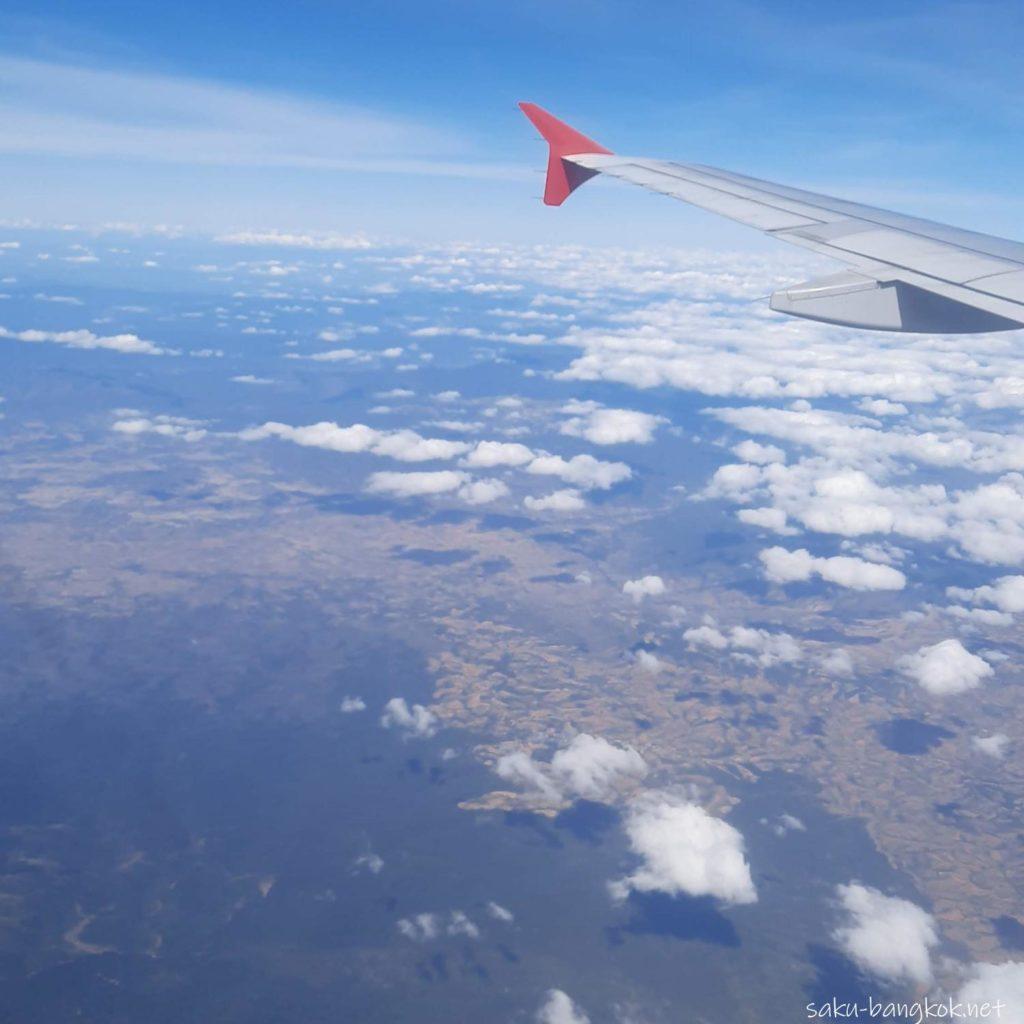 飛行機から見えたイサーンの大地