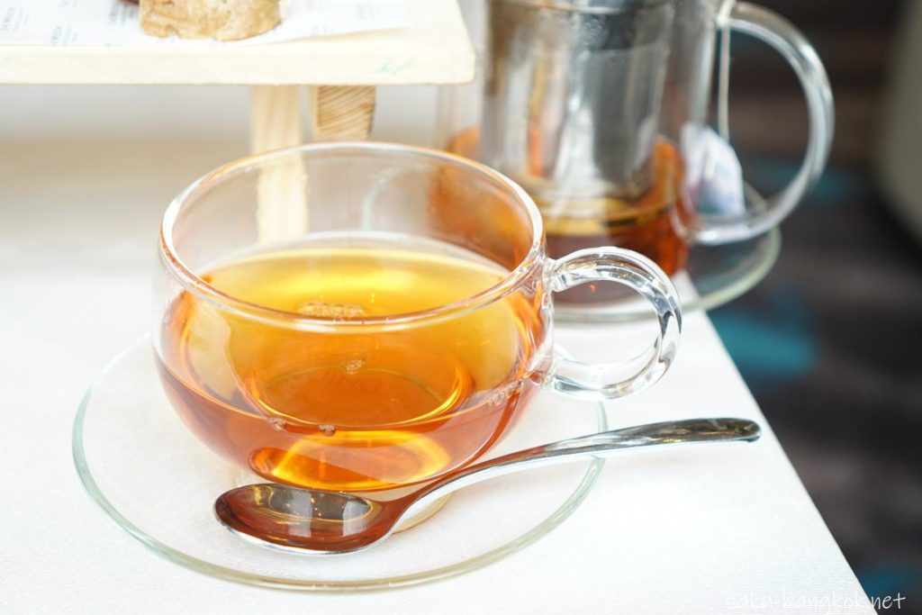 ストロベリーハイティーのお茶@ウェスティン・グランデ・スクンビット・バンコク