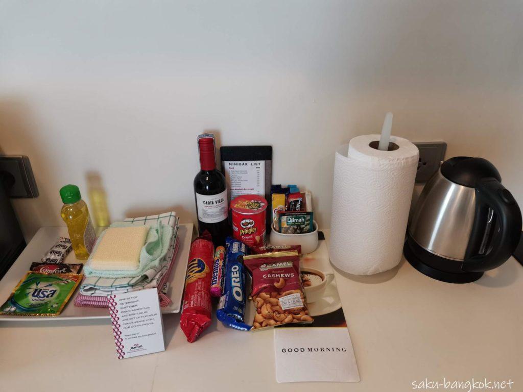 マリオット エグゼクティブ アパートメンツ バンコク スクンビット トンローの部屋(キッチン)