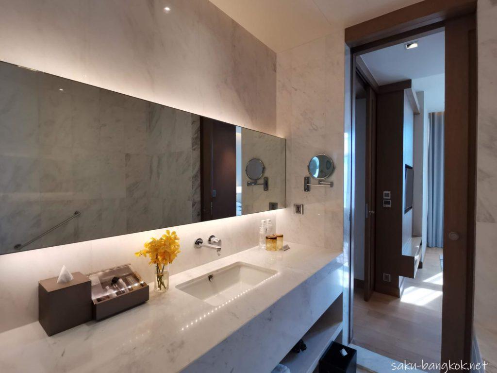 マリオット エグゼクティブ アパートメンツ バンコク スクンビット トンローの部屋(バスルーム)