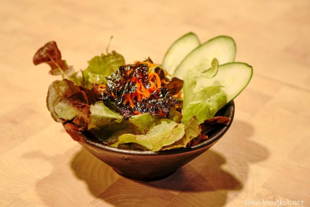 バンコクの焼肉やさん【肉匠】限定の匠コース チョレギサラダ