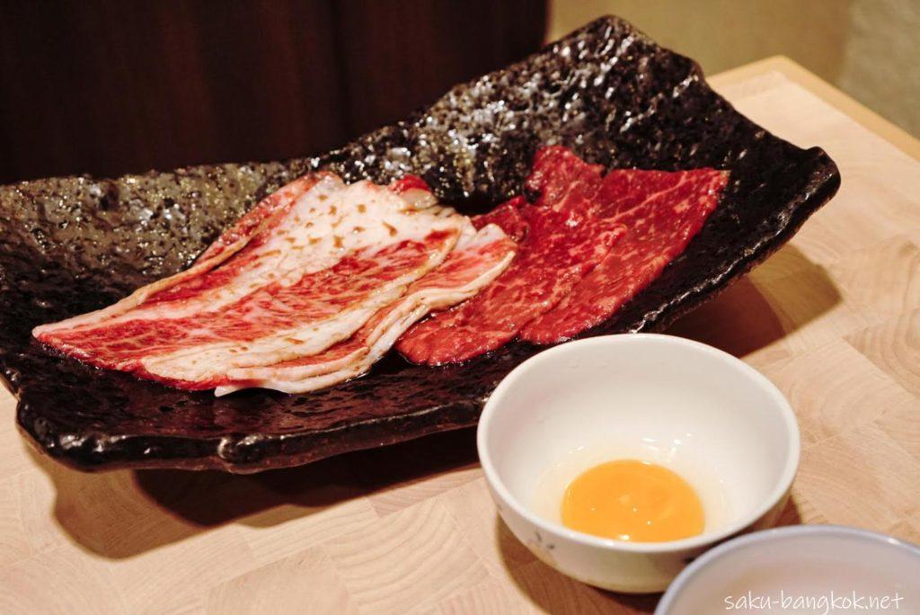 バンコクの焼肉やさん【肉匠】限定の匠コース 焼きすき