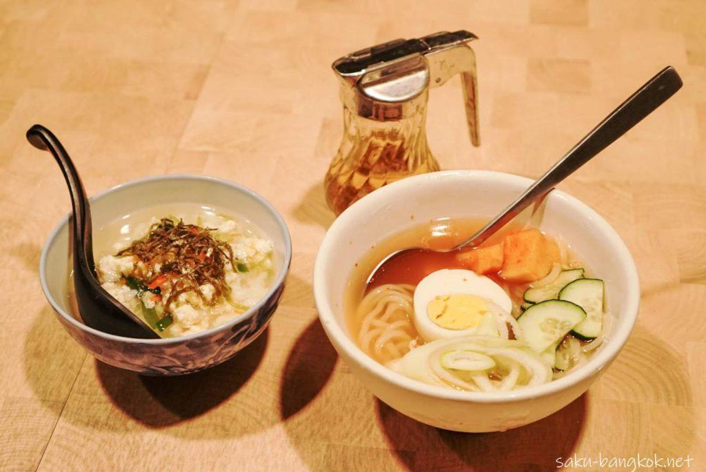 バンコクの焼肉やさん【肉匠】限定の匠コース 〆の冷麺と雑炊