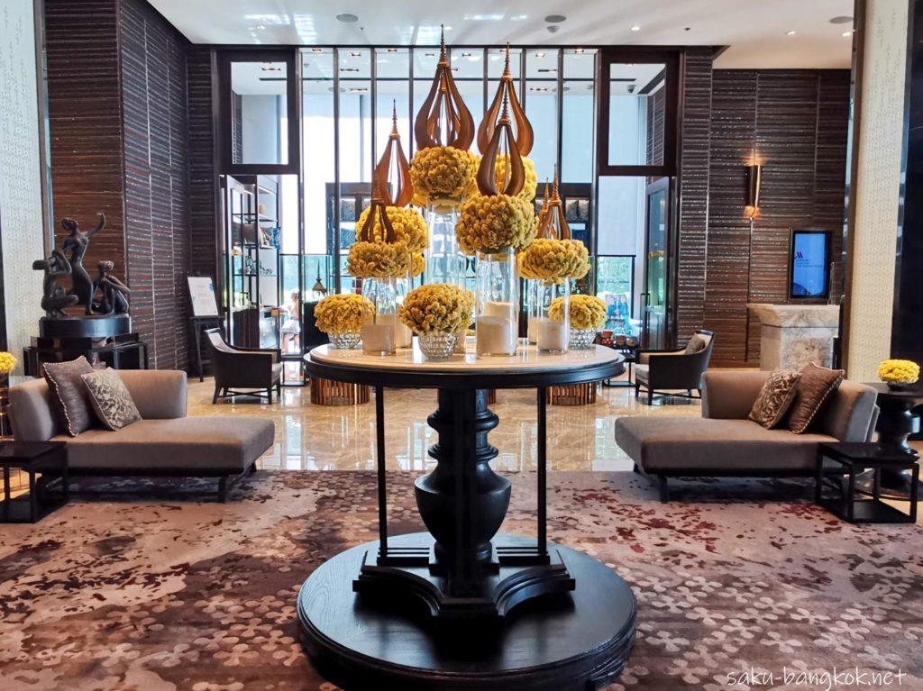 【ホテルレビュー】バンコク・マリオット・ホテル・ザ・スリウォンのロビー
