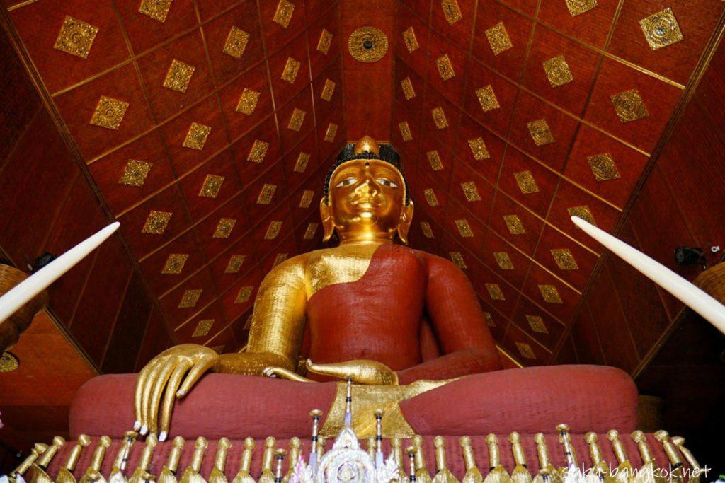 チェンライ 竹でできた仏像があるお寺 ワットプラサーン