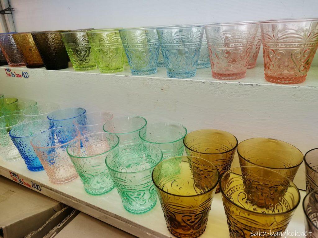ガラスコップ バンコク・チャトゥチャックウィークエンドマーケット2020