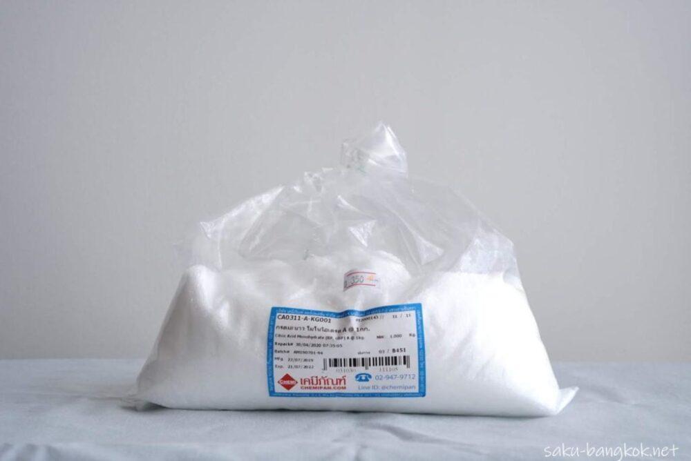 【タイの洗剤】クエン酸