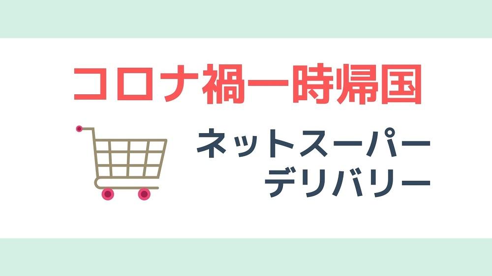 日本帰国後の自主隔離中に使いたいネットスーパーとデリバリーサービス