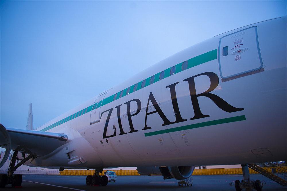 ZIPAIRの機体